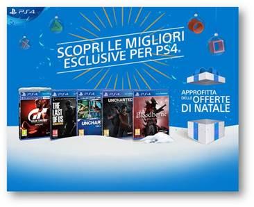 PlayStation – ecco le nuove offerte per le festività natalizie