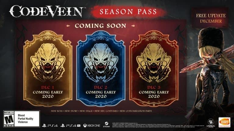 Code Vein – I DLC del Season Pass arriveranno a inizio 2020